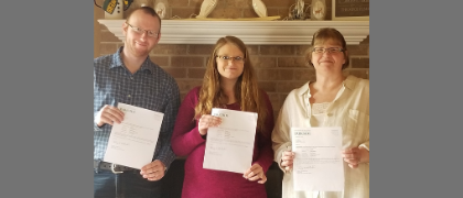 Mother, Daughter, and Son Earn their Online Associate Degrees, Together