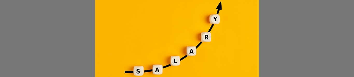 """Upward trending graph that spells out """"Salary"""""""