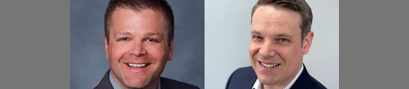 Professional headshots of Mitch Frydrych and Zac Avery